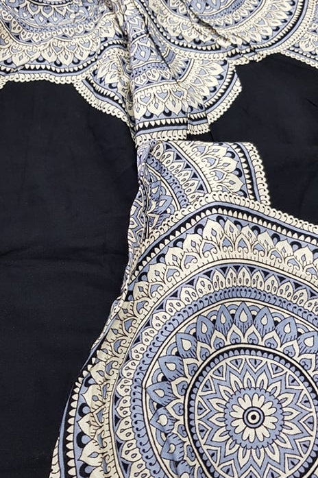 Boho Pocket Pants - Cream Mandala