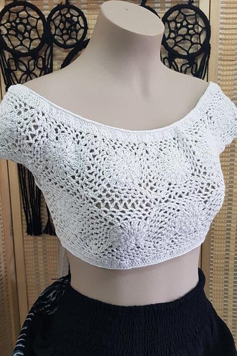 Crochet off shoulder top