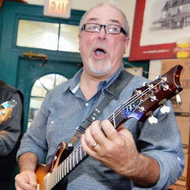 Bobby on guitar at the Banner Pub in Rockland, Massachusetts