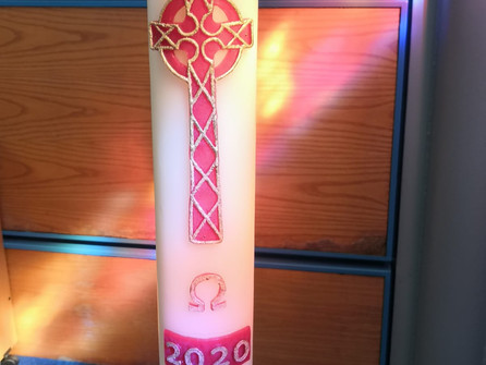 And a new paschal candle which doesnt fa