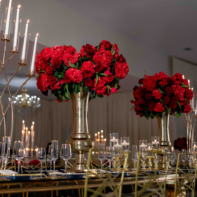 Wedding Day Reception Floral Decoration