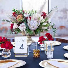 Wedding Reception Low Centerpiece