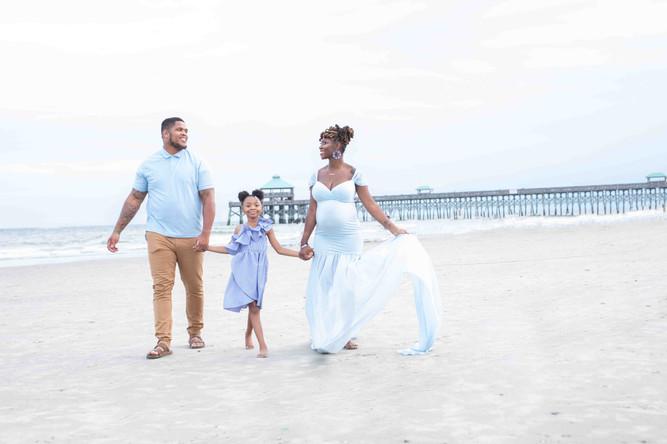 Family Beach Maternity Session