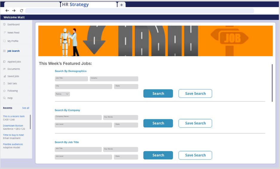 Job Search Page