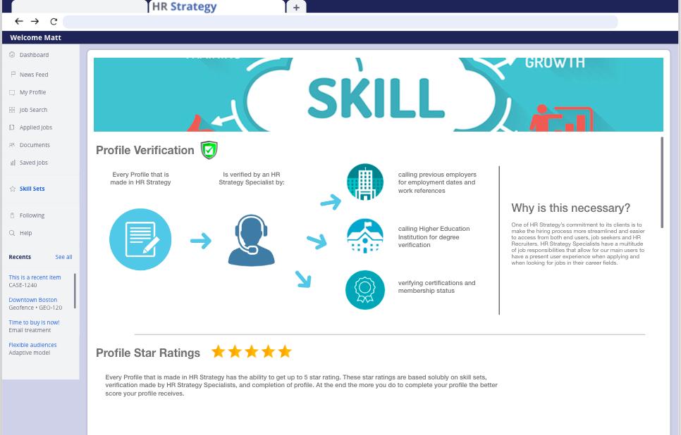 Skill Set Page