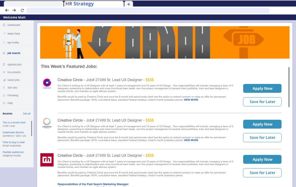 Featured Jobs Page