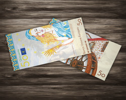 50 Euro Currency Concept