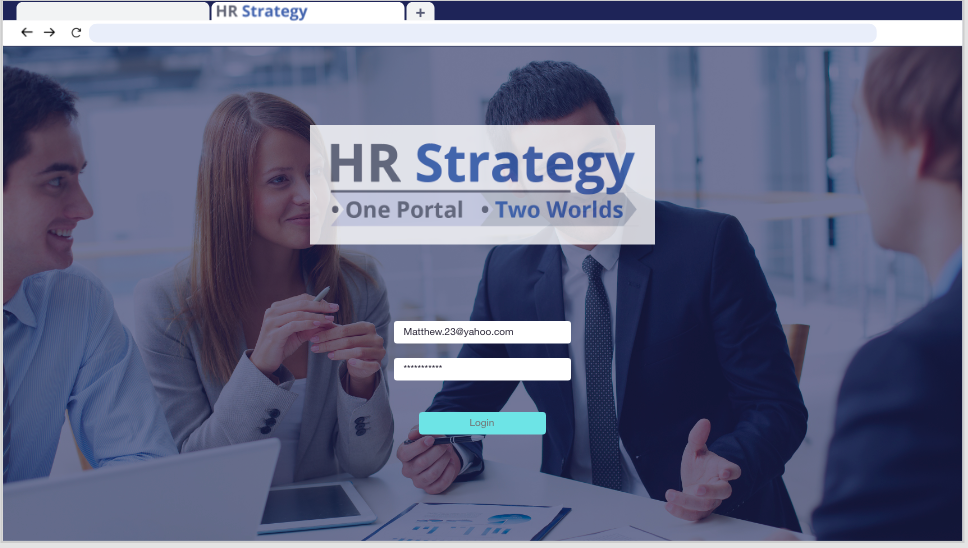 HR S Login Screen