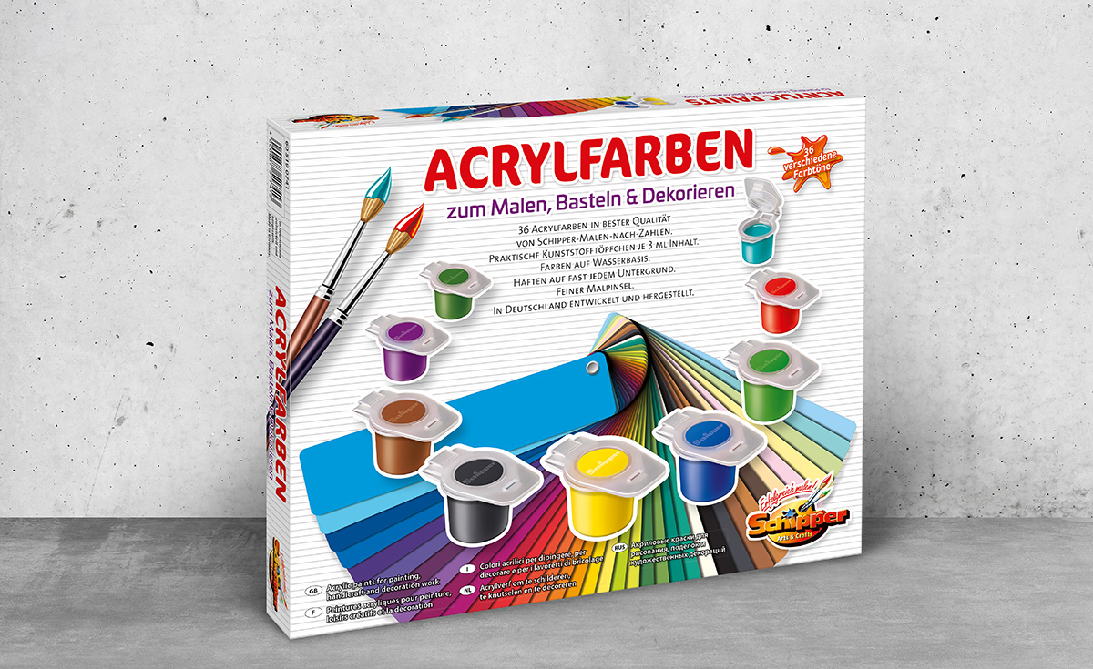 Acrylfarben-Box
