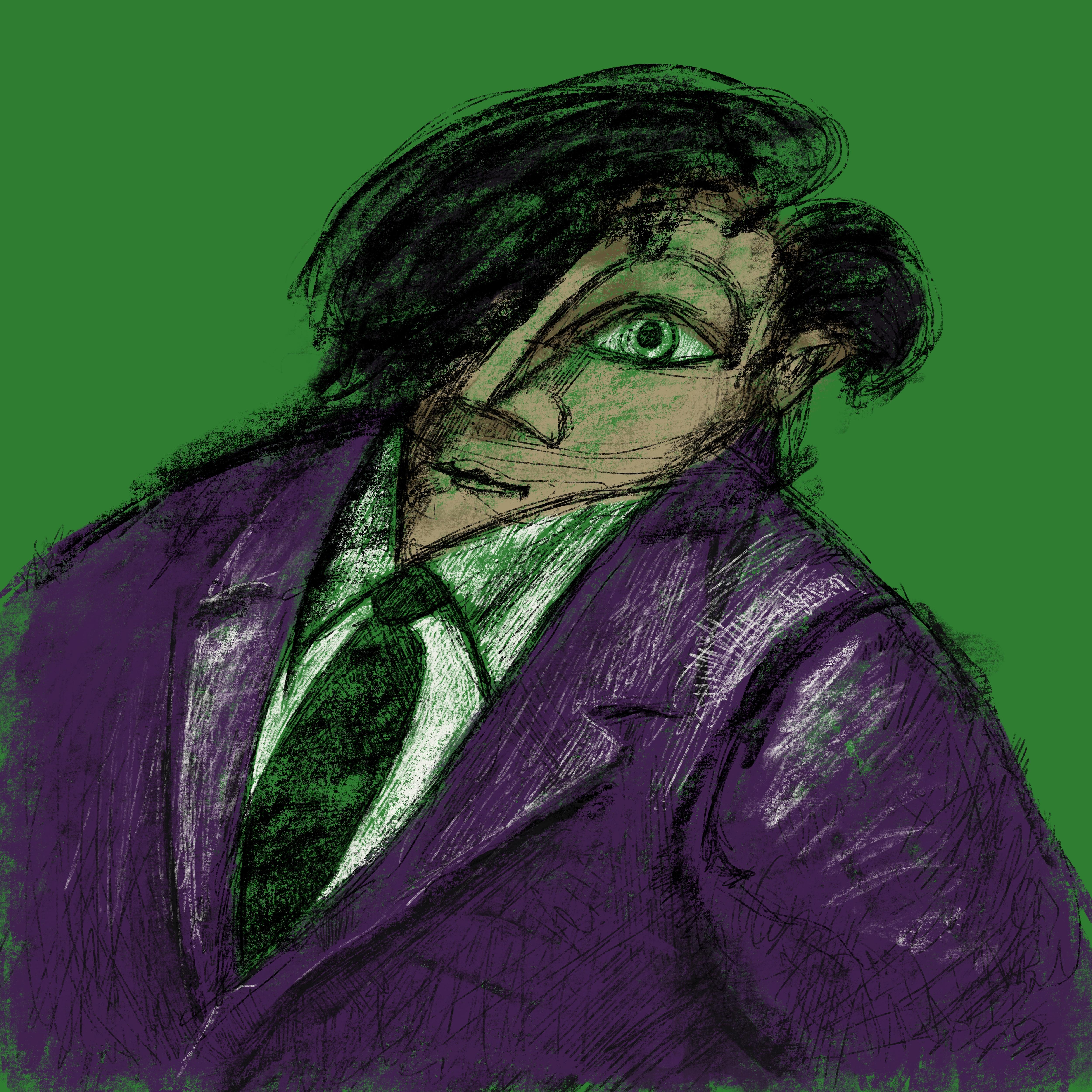"""""""Portrait auf Grün"""""""