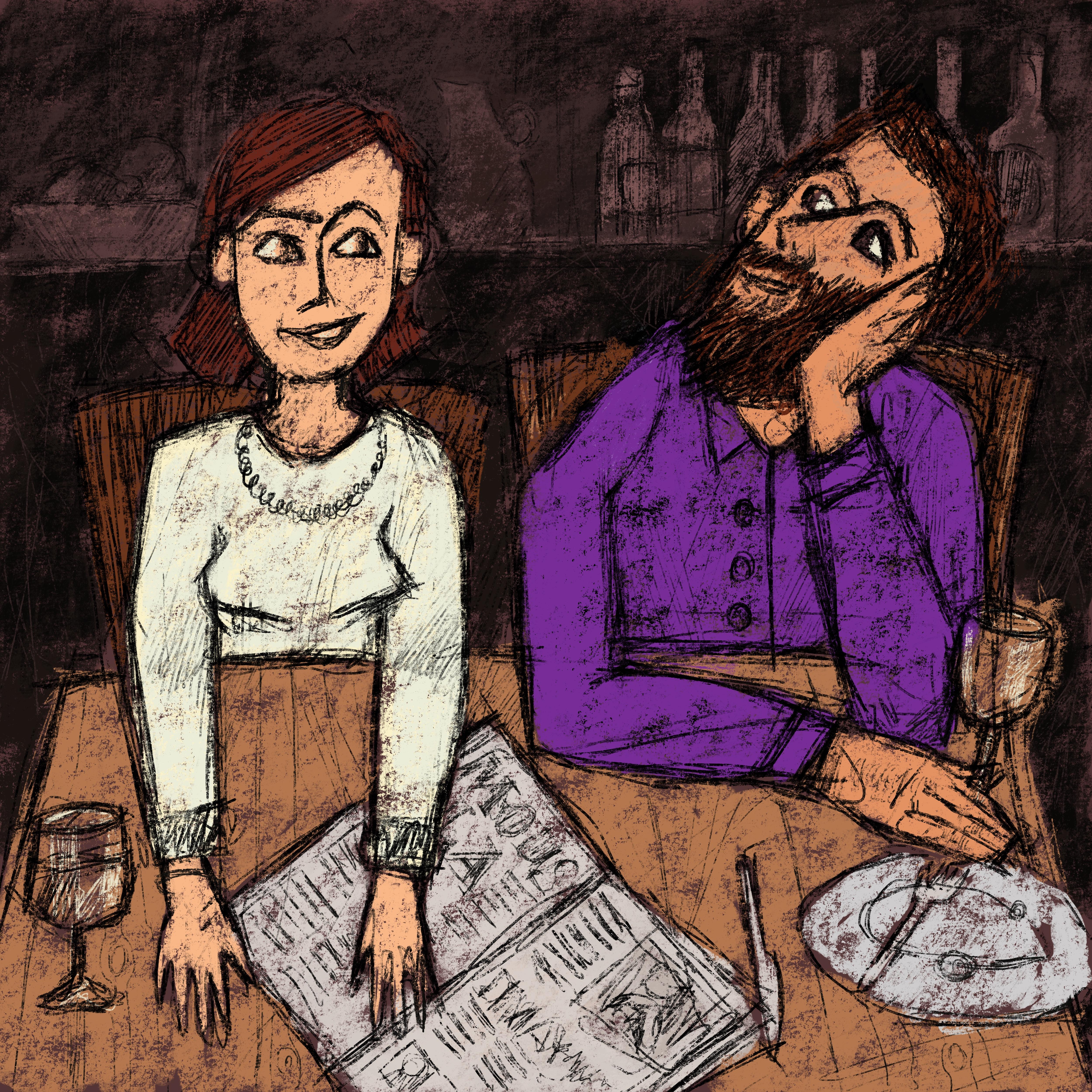 """""""Plaudern bei Wein und Zeitung"""""""