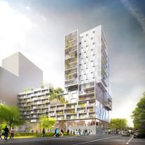 Immeuble de logements et d'activités commerciales