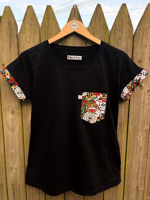 Camiseta Edición Ed Hardy / Negra