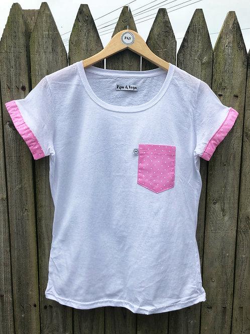 Camiseta Lunares / Rosa