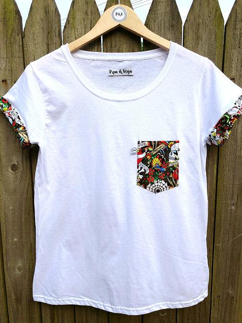 Camiseta Edición Ed Hardy / Blanca