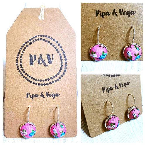 Earrings Flowers in Pink / Pendientes Flores en Rosa