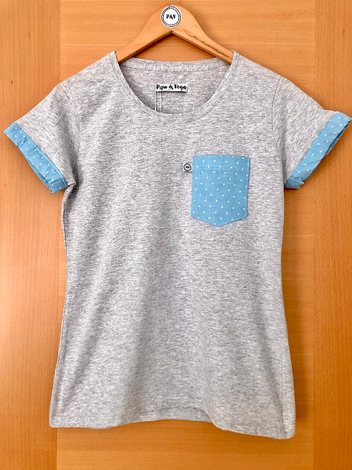 Camiseta Lunares / Azul