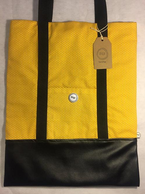Tote Bag Polka Dots Mustard  / Bolsa Tote Lunares Mostaza