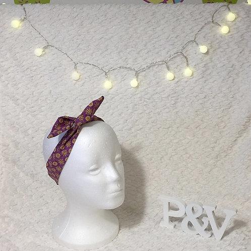 Bandana Púrpura y Dorado