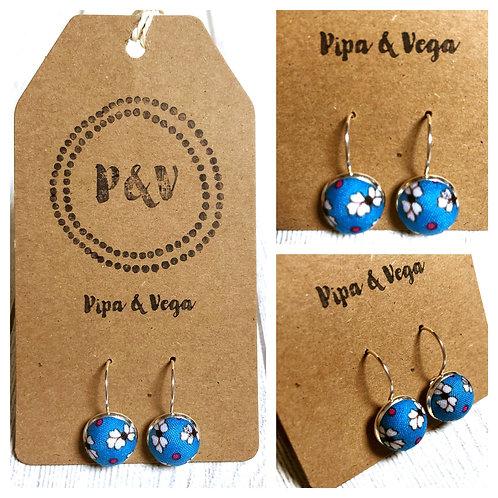 Earrings Flowers in Blue / Pendientes Flores en Azul