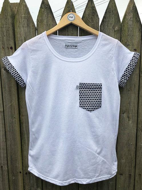 Camiseta Lunares Negros