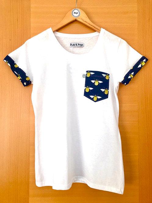 Camiseta Abejas / Azul