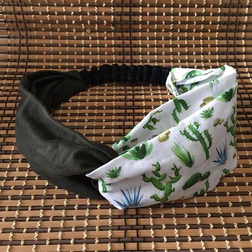Summer Turban Headband Cactus / Cinta Turbante de Verano Cactus