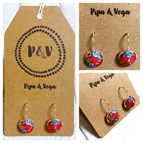 Earrings Flowers in Red / Pendientes Flores en Rojo