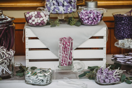 Purple Wedding Treats | Wedding Cake Alternatives | Candy Bar Dessert Bar | Hershey Kisses, Mints, Lolly Pops, custom M&M's, and licorice | Baywood Country Club Arcata California | Wedding Venus Pacific Coast | Humboldt County Event Venues | Destination Wedding Photographers | Seattles Best Wedding Photographers | Snohomish Wedding | Tacoma Bride