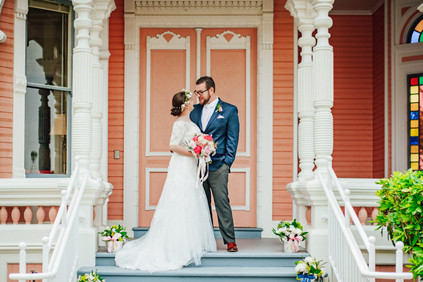 Romantic Washington Wedding | David's Bridal | Lace Wedding Dress | Vintage Wedding | Seattles Best Wedding Photographer | The Pink Lady | Destination Wedding | Old Town Eureka California | Flower Crown | Dove Tattoo | Humboldt County