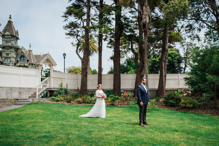 Romantic Washington Wedding | David's Bridal | Lace Wedding Dress | Vintage Wedding | Seattles Best Wedding Photographer | The Pink Lady | Destination Wedding | Old Town Eureka California | Flower Crown | Dove Tattoo | First Look | Carson Mansion