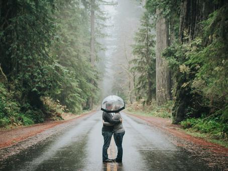 Rainy Engagement Session | Trinidad & Orick | Humboldt County, California