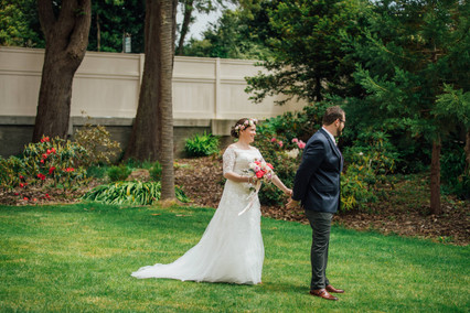 Romantic Washington Wedding | David's Bridal | Lace Wedding Dress | Vintage Wedding | Seattles Best Wedding Photographer | The Pink Lady | Destination Wedding | Old Town Eureka California | Flower Crown | Dove Tattoo | First Look
