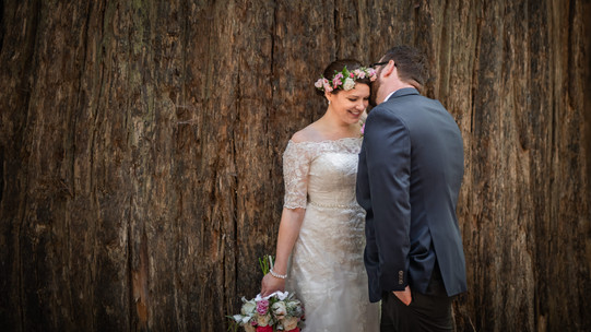 Avenue of the Giants | Romantic Washington Wedding | David's Bridal | Lace Wedding Dress | Vintage Wedding | Seattles Best Wedding Photographer | The Pink Lady | Destination Wedding | Old Town Eureka California | Flower Crown | Dove Tattoo | Founders Grove | Redwood Trees