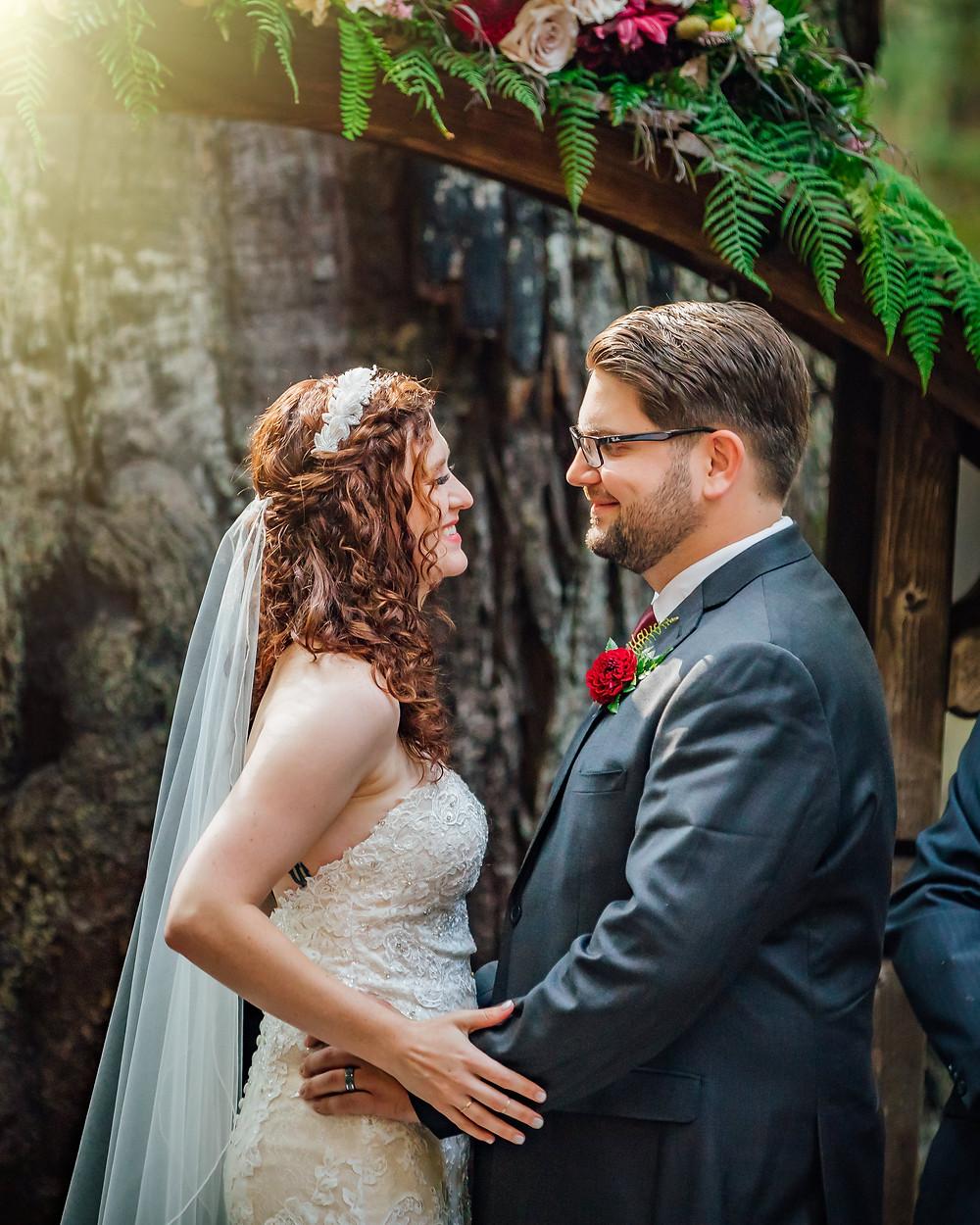 Mendocino County California Wedding | Redwood Wooded Wedding | Pronovia Bridal | Lace Wedding Dress | Destination Wedding Photographers | Seattle Wedding Photographers