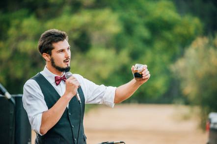 Mendocino County California Wedding | Redwood Wooded Wedding | Pronovia Bridal | Lace Wedding Dress | Destination Wedding Photographers | Seattle Wedding Photographers | Leggett California | Outdoor Summer Weddings | Speeches