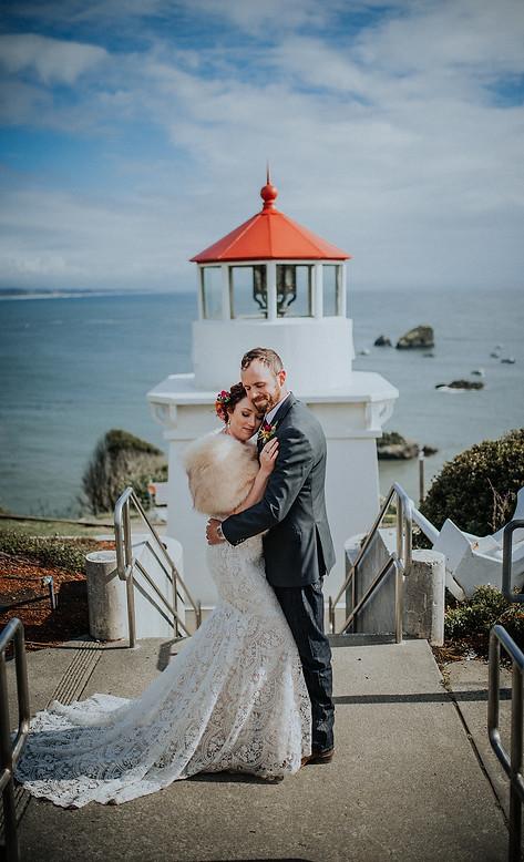 Engagement Wedding Photographer Seattle   Seattle Tacoma Bride   Pacific Northwest Wedding   Tacoma Destination Wedding   PNW Venues   Wedding Dress   Whimsical Wedding   Lighthouse Wedding Portrait   Lace Wedding Dress   PNW Wedding   Seaside Wedding