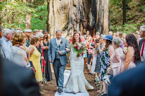 Mendocino County California Wedding | Redwood Wooded Wedding | Pronovia Bridal | Lace Wedding Dress | Destination Wedding Photographers | Seattle Wedding Photographers | Benbow Inn | Wedding Ceremony