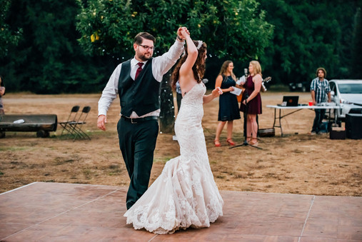 Mendocino County California Wedding | Redwood Wooded Wedding | Pronovia Bridal | Lace Wedding Dress | Destination Wedding Photographers | Seattle Wedding Photographers | Leggett California | Outdoor Summer Weddings | First Dance