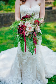 Mendocino County California Wedding | Redwood Wooded Wedding | Pronovia Bridal | Lace Wedding Dress | Destination Wedding Photographers | Seattle Wedding Photographers | Benbow Inn | Wedding Party | Wedding Posing | Bouquets with Ferns