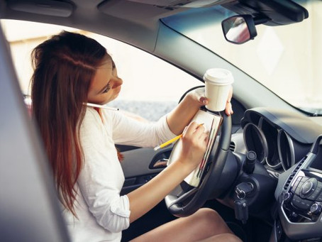 Distracted driving contract with children
