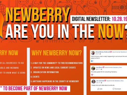 Newberry Now Events 10/28-11/3! #BeInTheNow