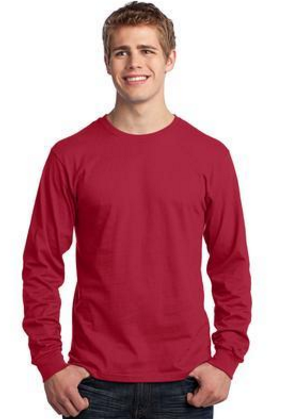 Port & Company® - Long Sleeve Core Cotton Tee. PC54LS