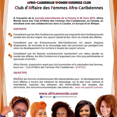 Le Club d'Affaire des Femmes Afro-Caribéennes de Africa Mondo