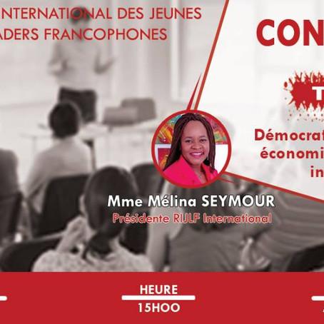 Conférence débat avec les étudiants de l'Université d'Abomey Calavi, au Bénin