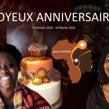 L'ONG Africa Mondo célébre son troisième anniversaire