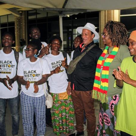 Accueil des marraines et du parrain du Mois de l'histoire des Noirs en République du Bénin