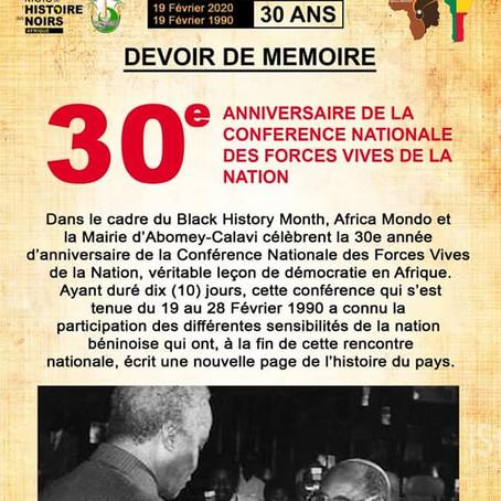Programme officiel du Mois de l'Histoire des Noirs Afrique, au Bénin