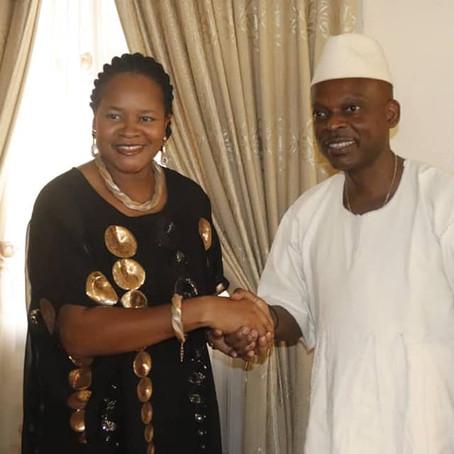 Mélina Seymour, Coordonnatrice, reçu par le Ministre togolais des affaires étrangères, Robert Dussey