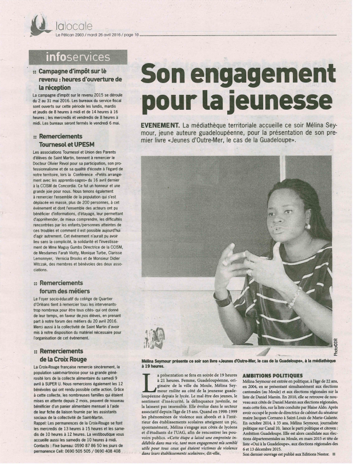 Article de presse de Saint-Martin